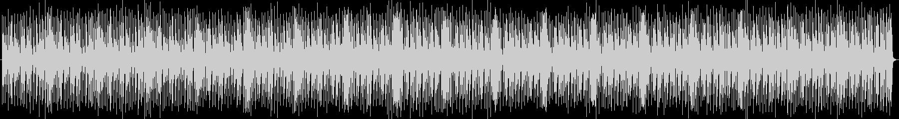 躍動感のあるリズミカルな曲の未再生の波形