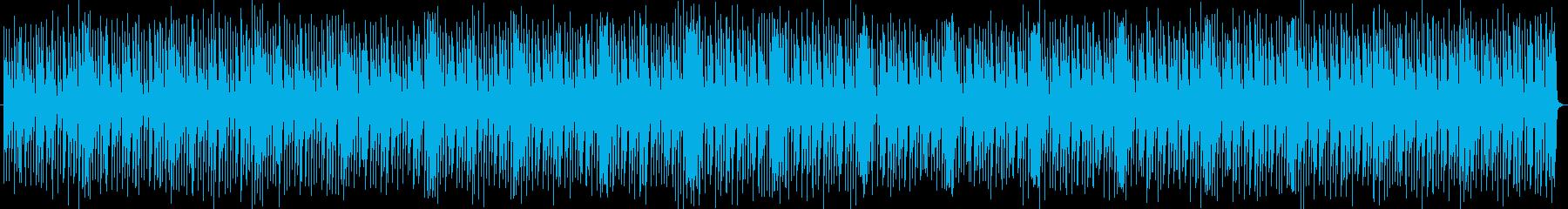 躍動感のあるリズミカルな曲の再生済みの波形
