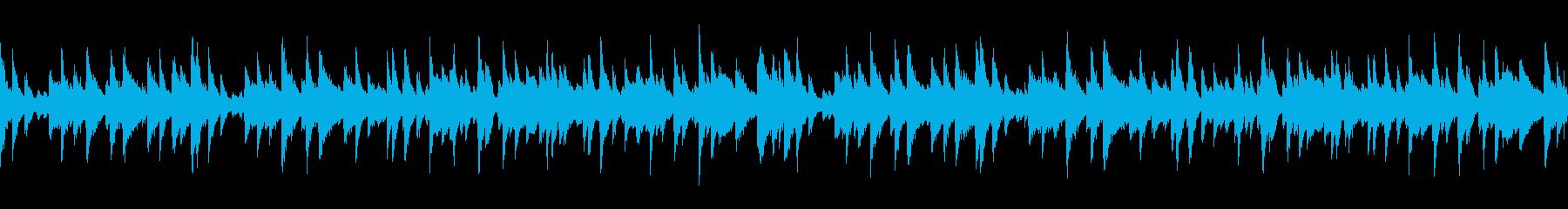 展覧会の絵・お洒落カフェ風ピアノポップの再生済みの波形