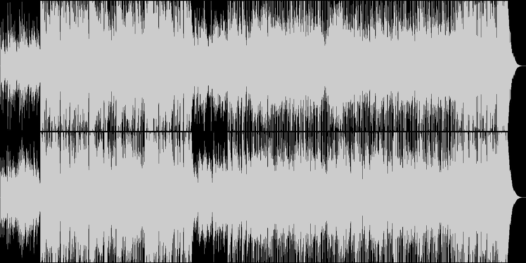 ギターと木琴のメロが楽しいフォークソングの未再生の波形