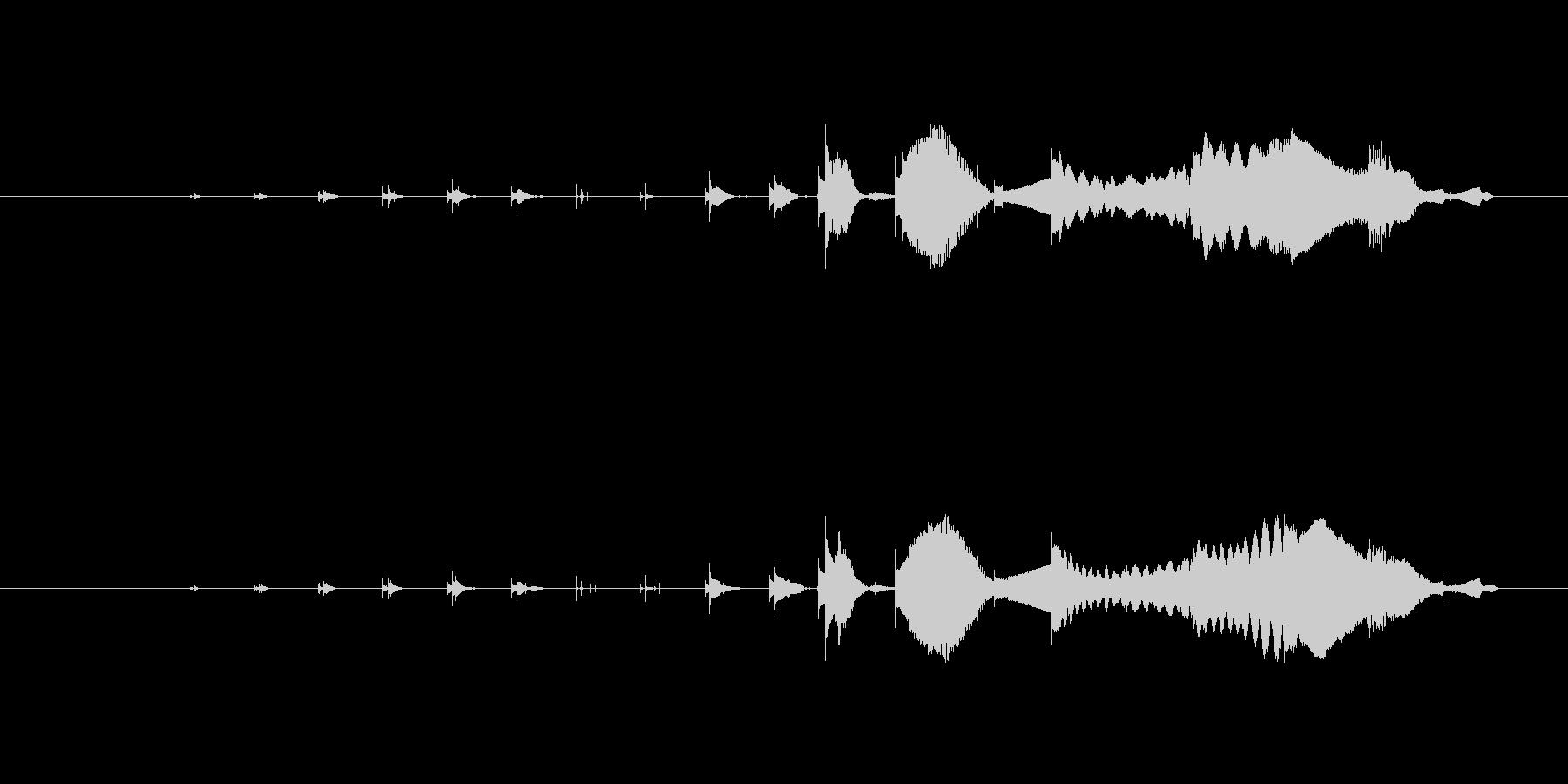特撮 マイクロクリック05を確認の未再生の波形