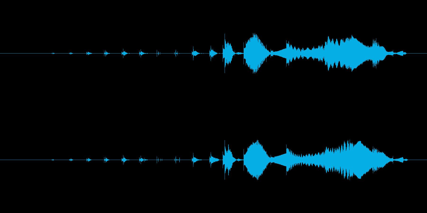 特撮 マイクロクリック05を確認の再生済みの波形