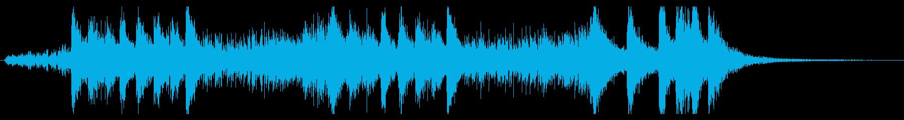 せわしなく賑やかなBGMの再生済みの波形