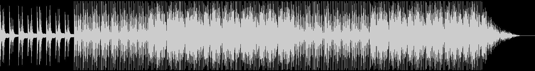 うねるベースと跳ねるようなドラムの未再生の波形