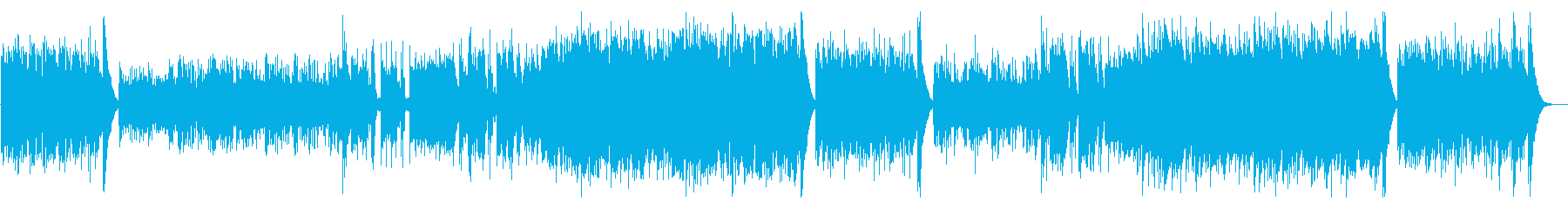 三味線、尺八とオーケストラの和風バトル曲の再生済みの波形