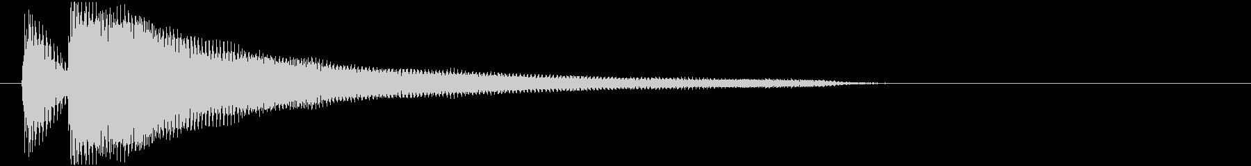 ジャジャーン(ピアノ)MLの未再生の波形