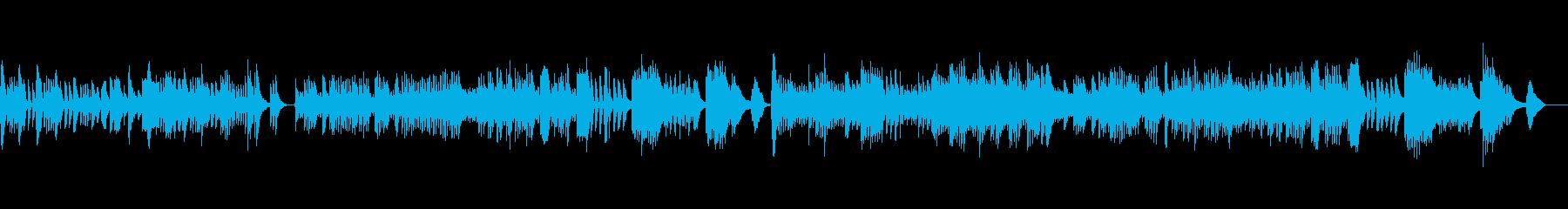 軽やかで楽し気なかわいらしいピアノ曲の再生済みの波形