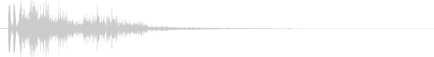 ショットガン:シングルショットの未再生の波形