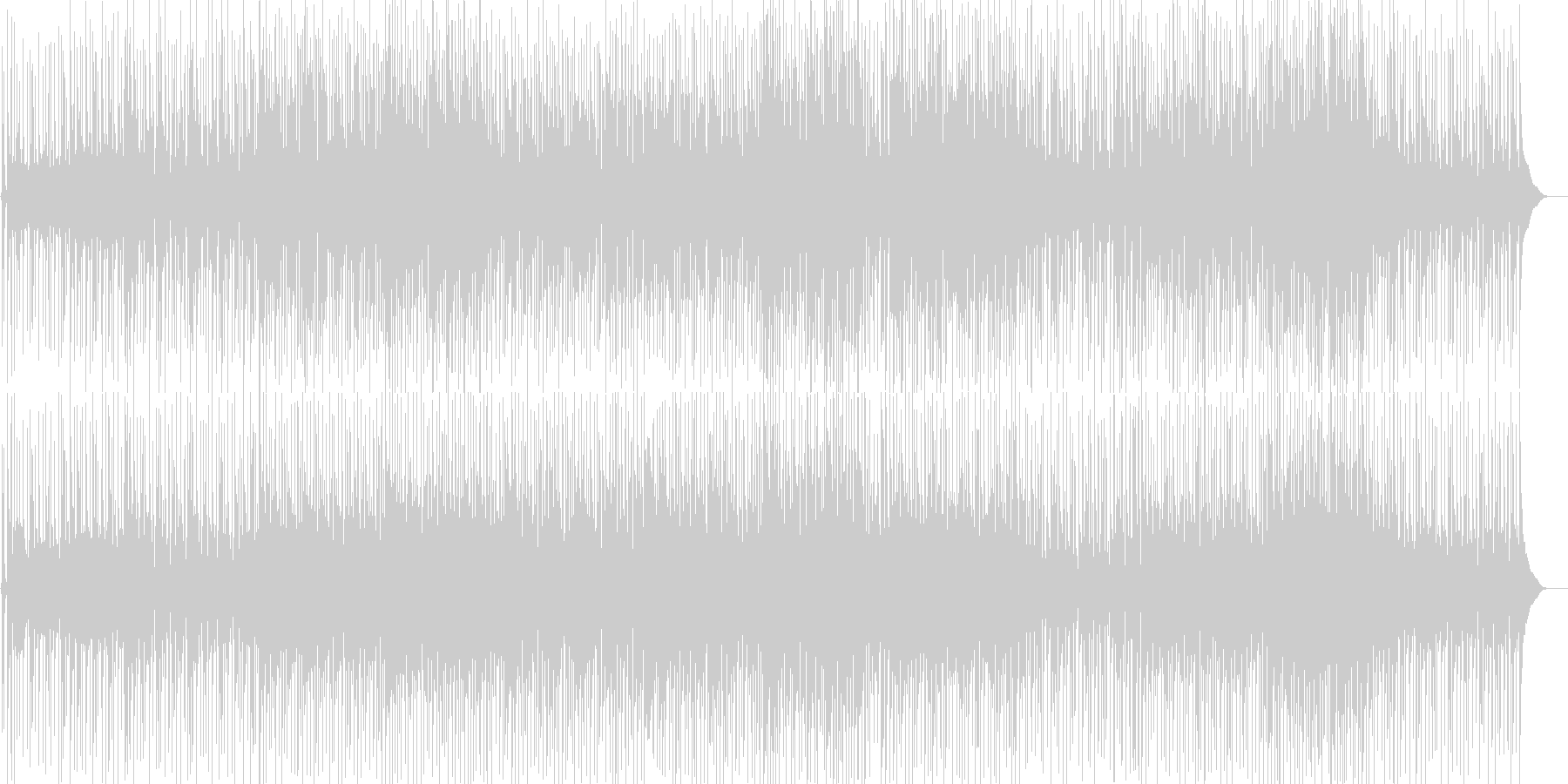 ほのぼのとして落ち着いたギターポップスの未再生の波形