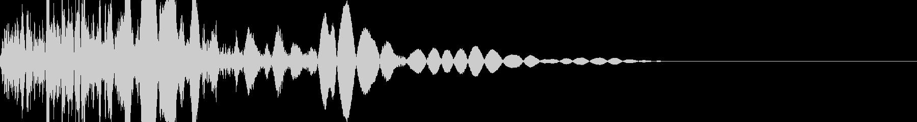 格闘ゲーム系 敵ガード時 攻撃音の未再生の波形
