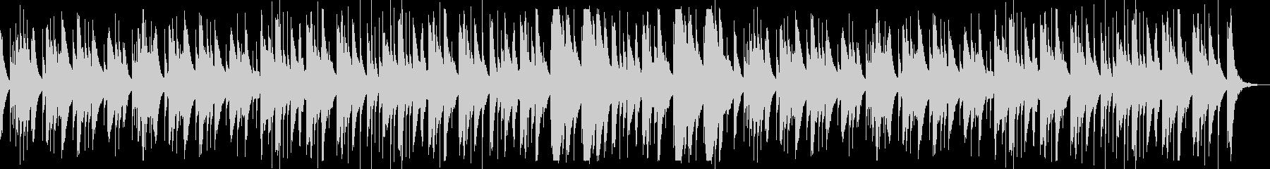 優しい旋律が印象的なオルゴールの未再生の波形