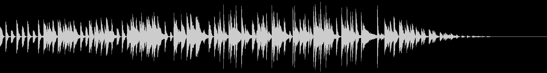 壊れたラジオから流れるラグタイム風BGMの未再生の波形