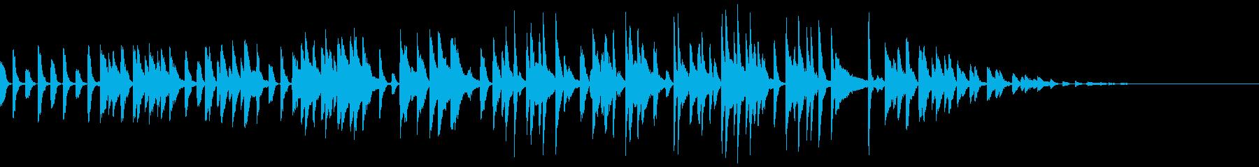 壊れたラジオから流れるラグタイム風BGMの再生済みの波形