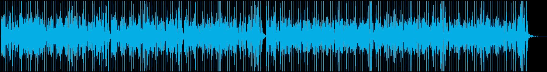 リズミカルで元気なBGMの再生済みの波形