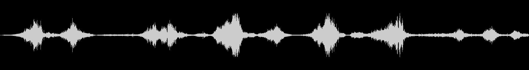 ビニールラフト:さまざまなスライデ...の未再生の波形
