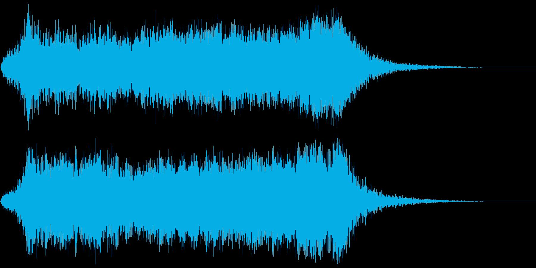 壮大なオーケストラのファンファーレの再生済みの波形