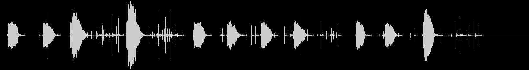 花火の口sの未再生の波形