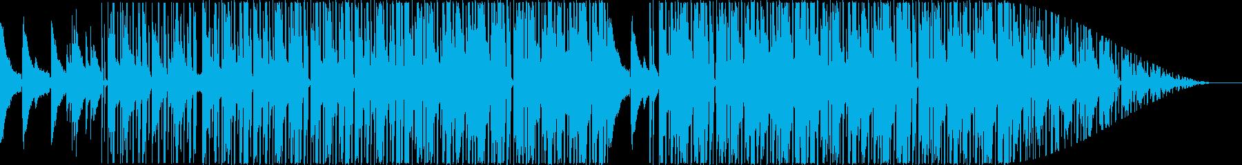 ピアノが心地良いローファイの再生済みの波形