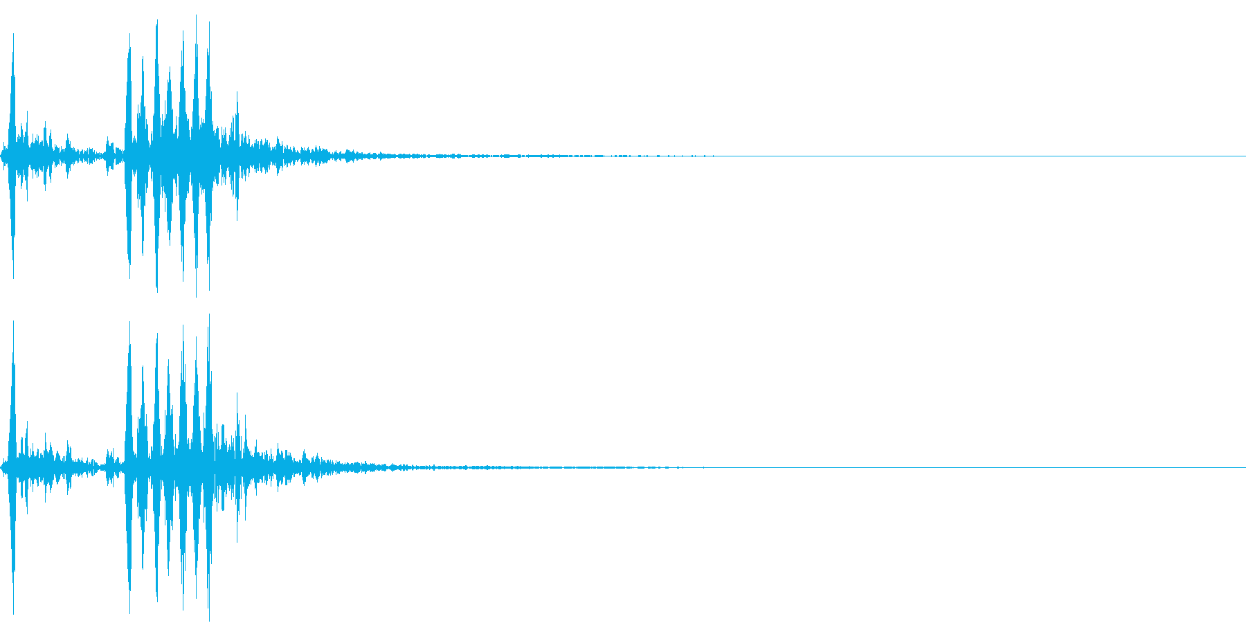 【生録音】フラミンゴの鳴き声 4の再生済みの波形