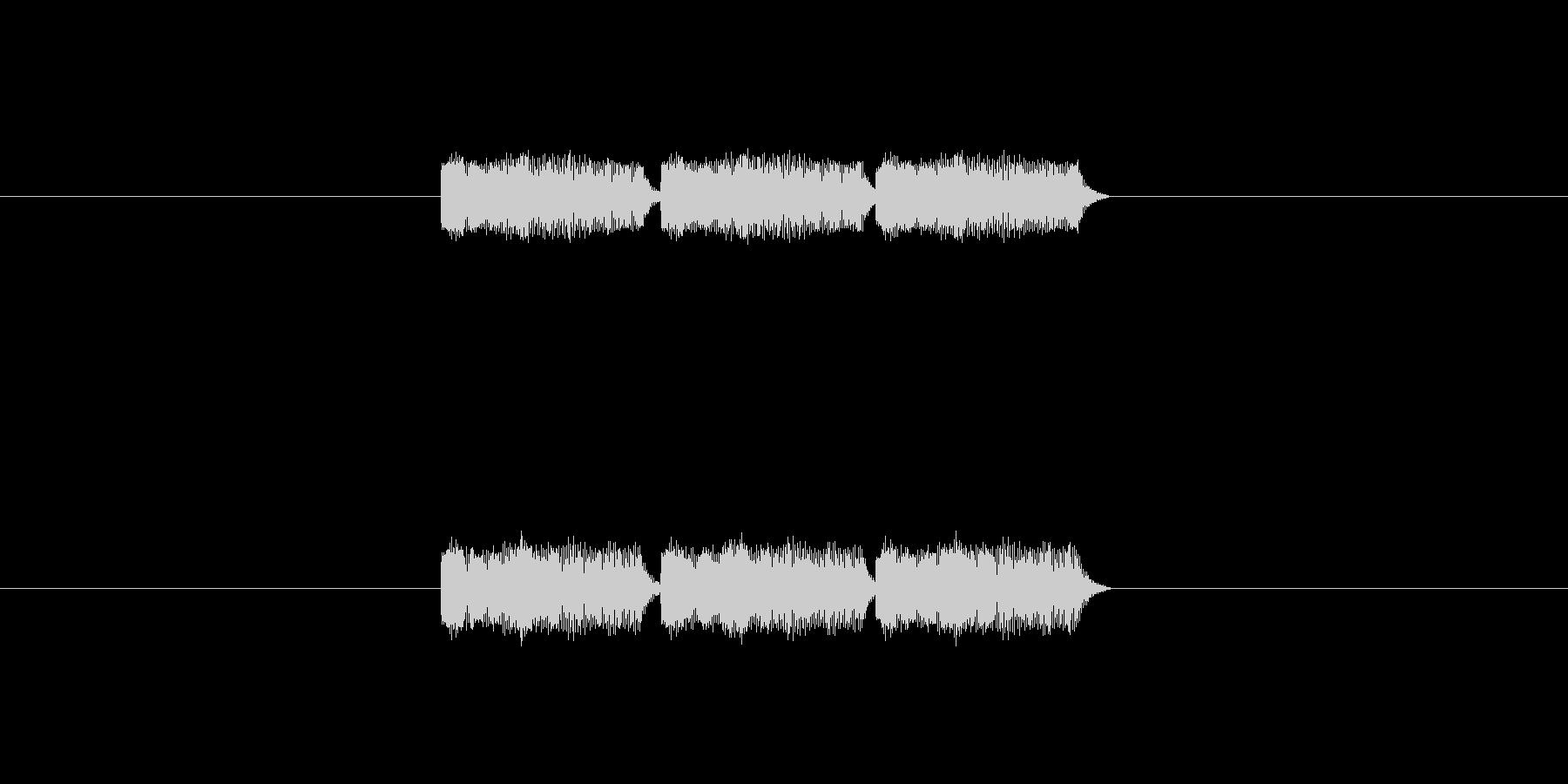 「3」を表す音のカウンターです の未再生の波形