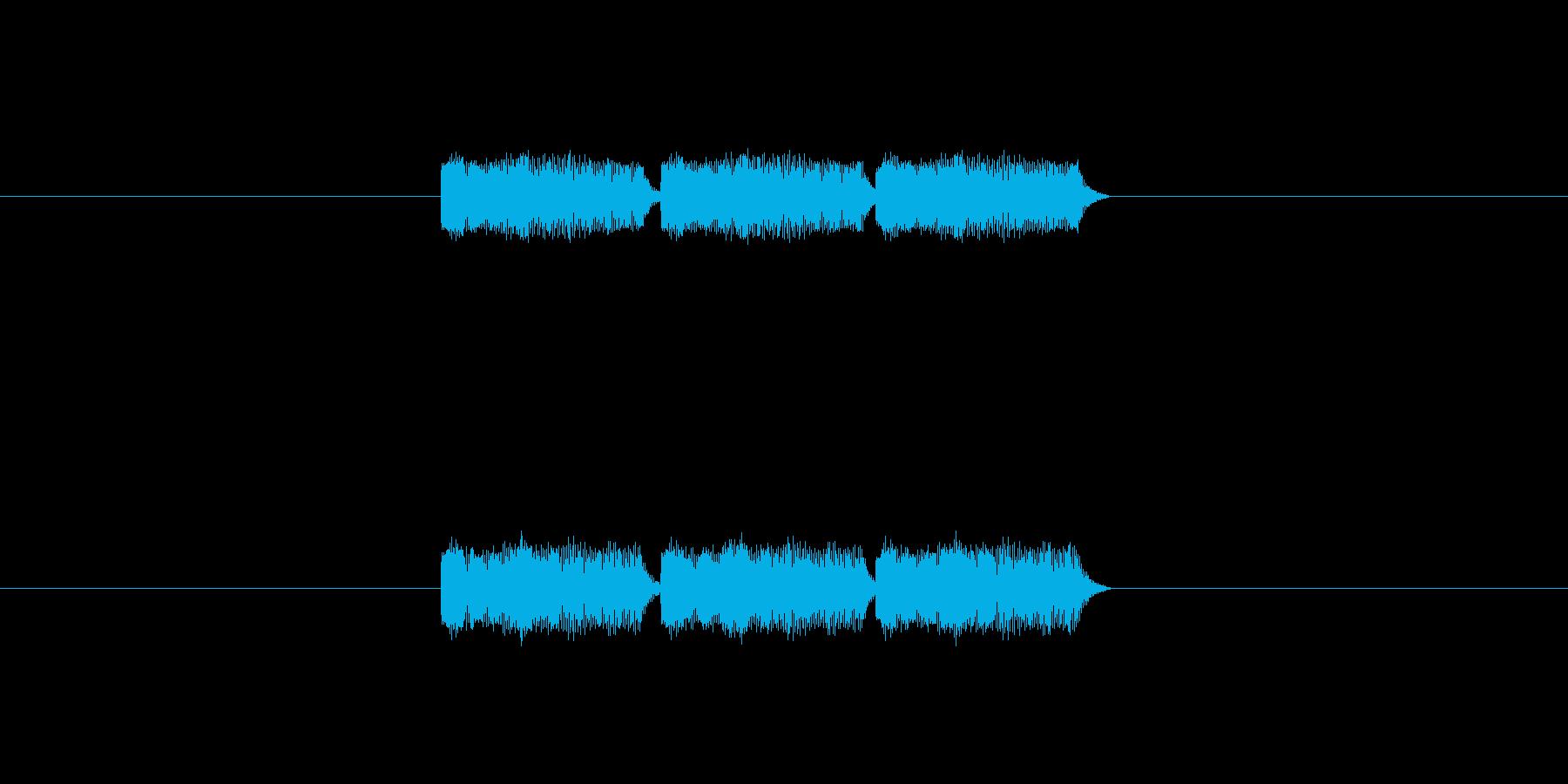 「3」を表す音のカウンターです の再生済みの波形