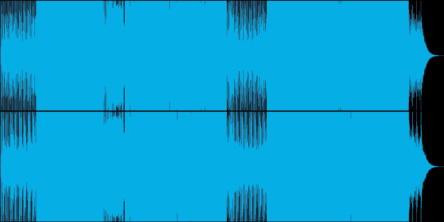 攻撃シーンに合うクラシカルEDMの再生済みの波形