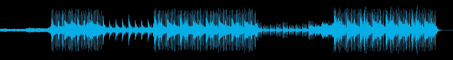 生命の誕生を感じさせるリラックスBGMの再生済みの波形