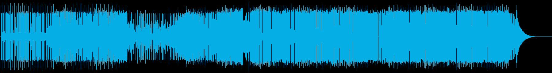 ベース音が細かいDubstepの再生済みの波形