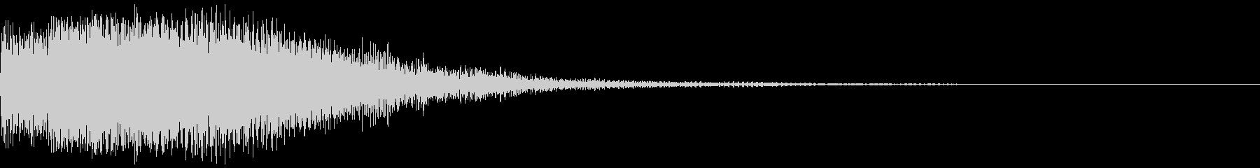 【インパクト】衝撃的な場面のSEの未再生の波形