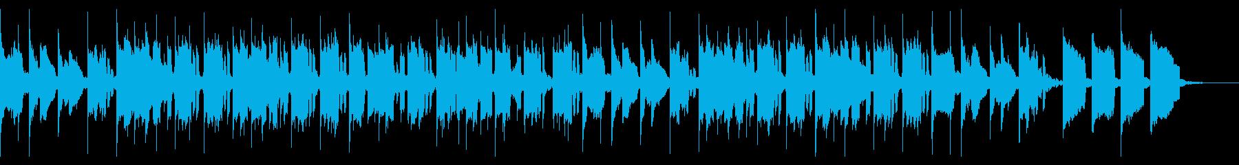 幻想的で優しいオルゴールのような音色の曲の再生済みの波形