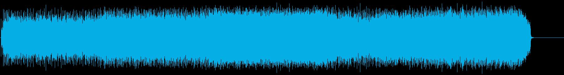 パワフルで攻撃的なマイナーヘヴィロックの再生済みの波形