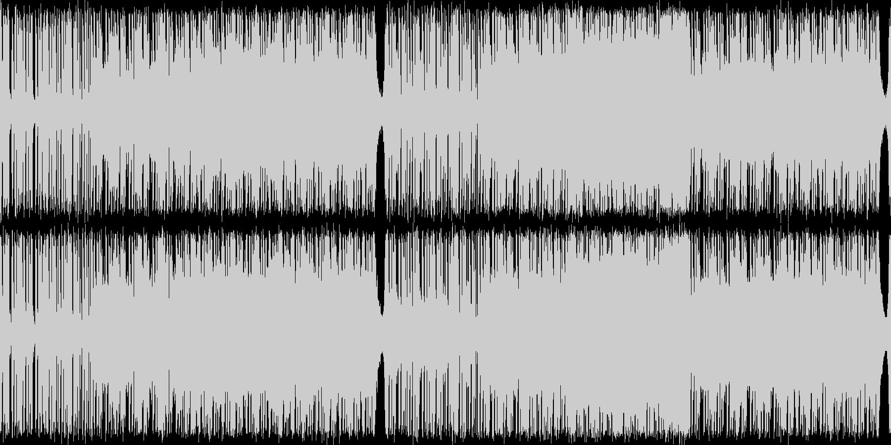 シンセメインのBGMの未再生の波形