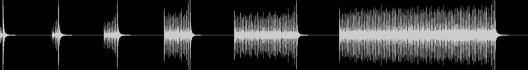 ドラム、スネア、ロール、ハイ、6バ...の未再生の波形