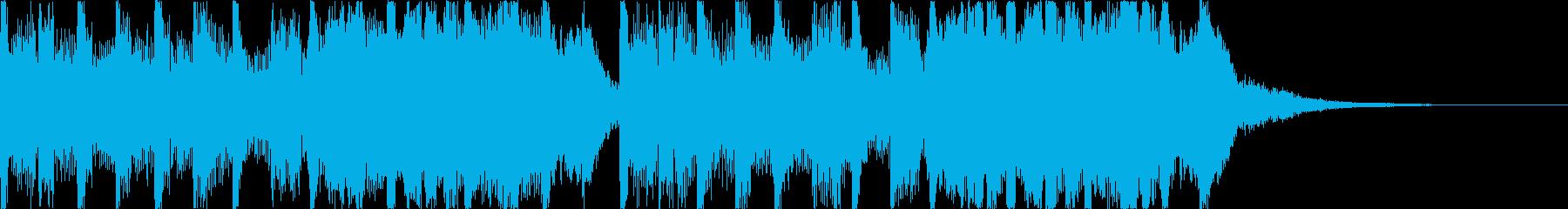 わくわくかわいい・おしゃれEDMジングルの再生済みの波形