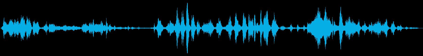 小さな屋内の群衆:会話中の軽い笑い声の再生済みの波形