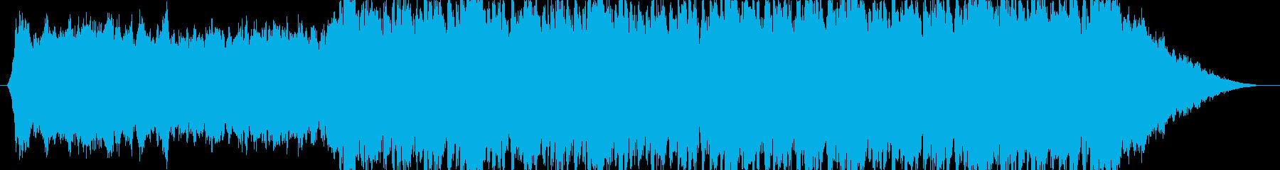 緊張感のあるスリリングな楽曲の再生済みの波形