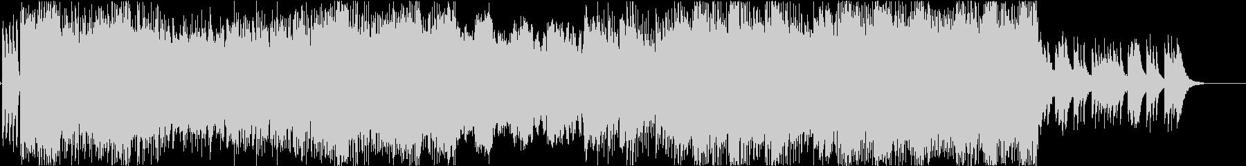 激しめのギターリフ、ピアノで終わるの未再生の波形