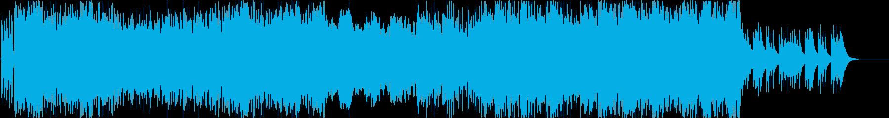 激しめのギターリフ、ピアノで終わるの再生済みの波形