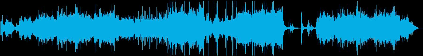 ピアノと弦楽器の物語風BGMの再生済みの波形