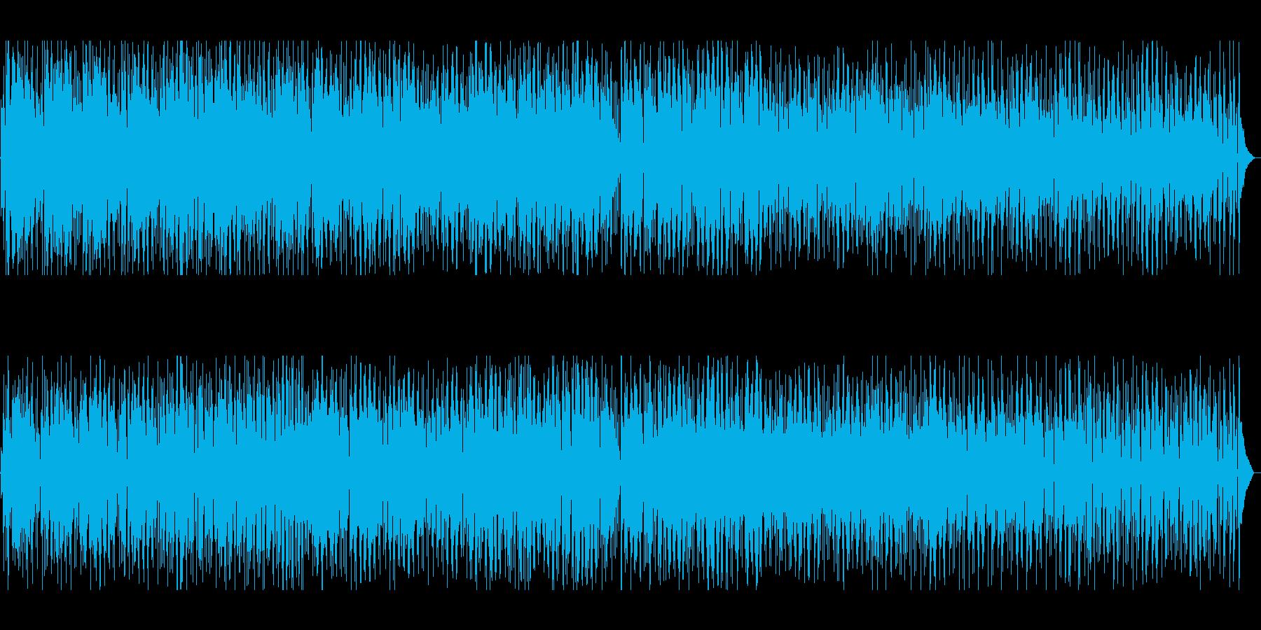 心がほっこりする、ボサノバ曲の再生済みの波形