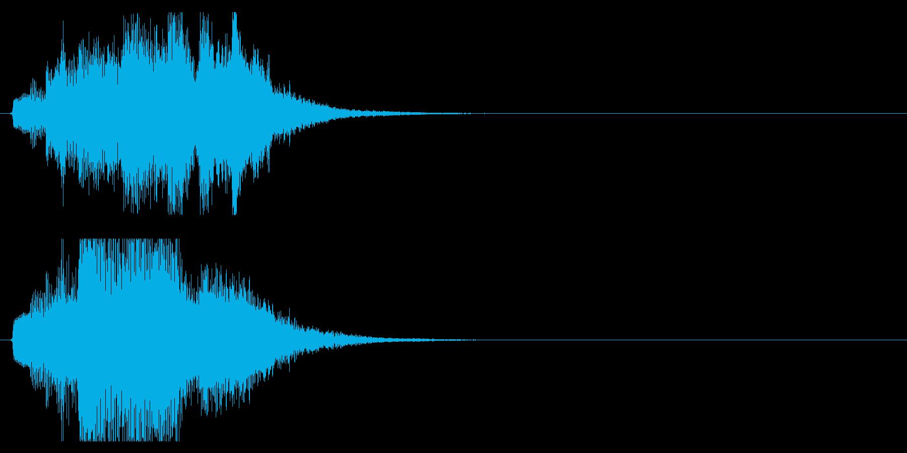 ハープ・上昇_8-1の再生済みの波形