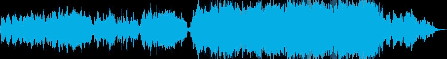 生演奏《オーボエの壮大な和風の曲》の再生済みの波形