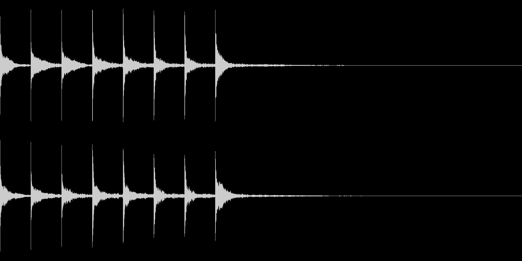 トントントントン・・・(上がり系)の未再生の波形