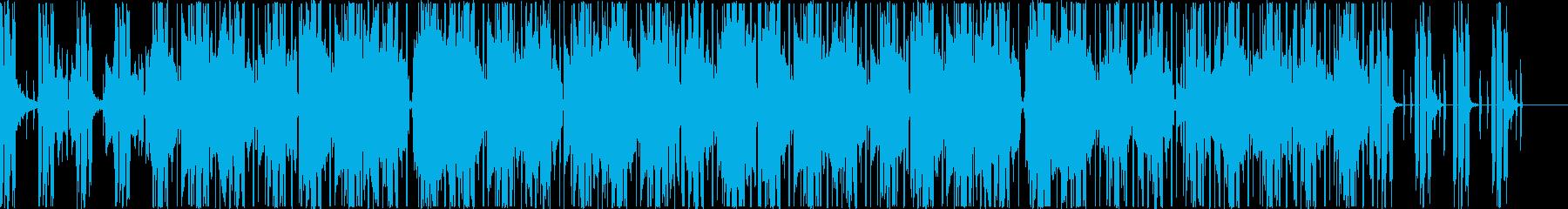 ブレイクだらけな気だるいヒップホップの再生済みの波形