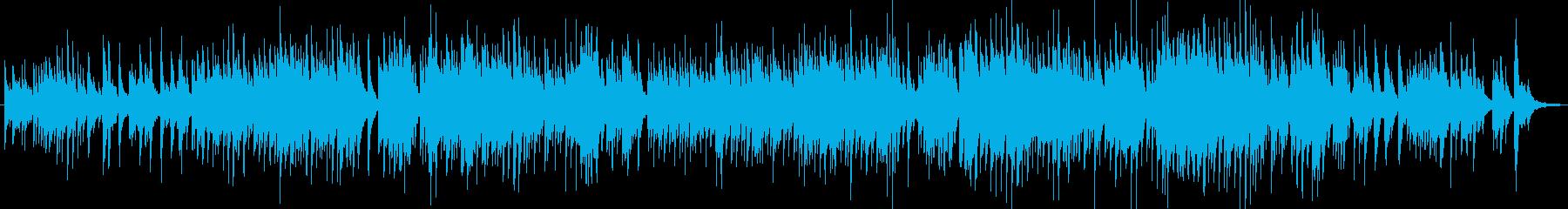 エレピとギターのよくあるJPopバラードの再生済みの波形