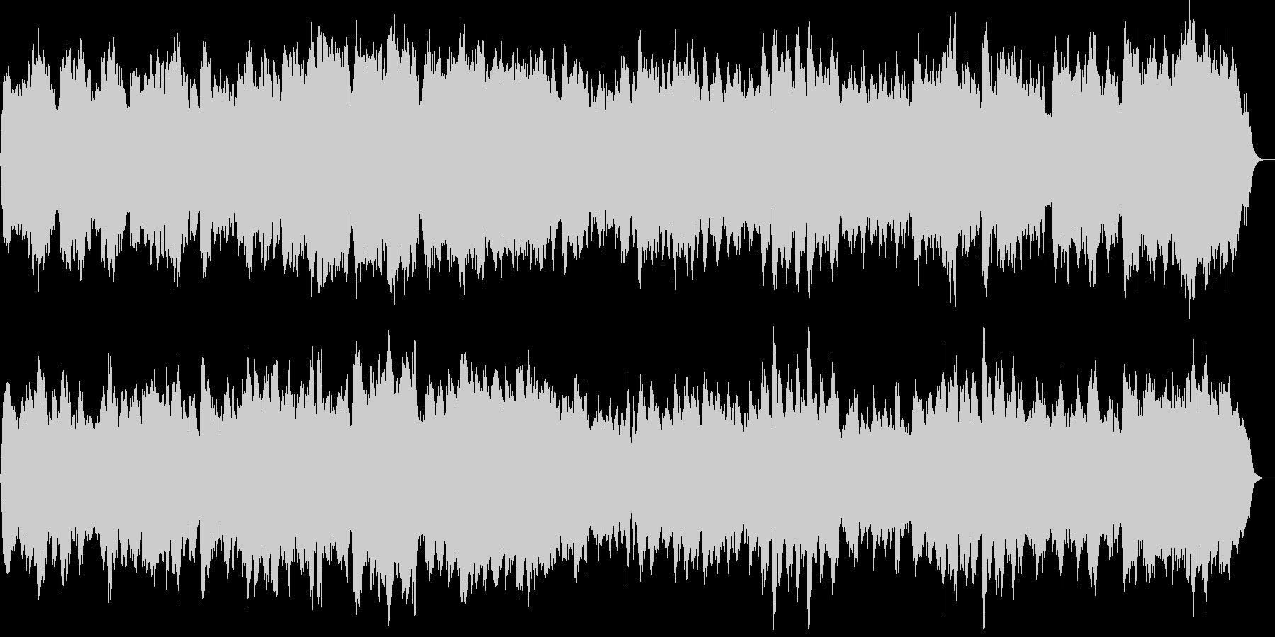 バッハのようなパイプオルガンの四声の曲の未再生の波形