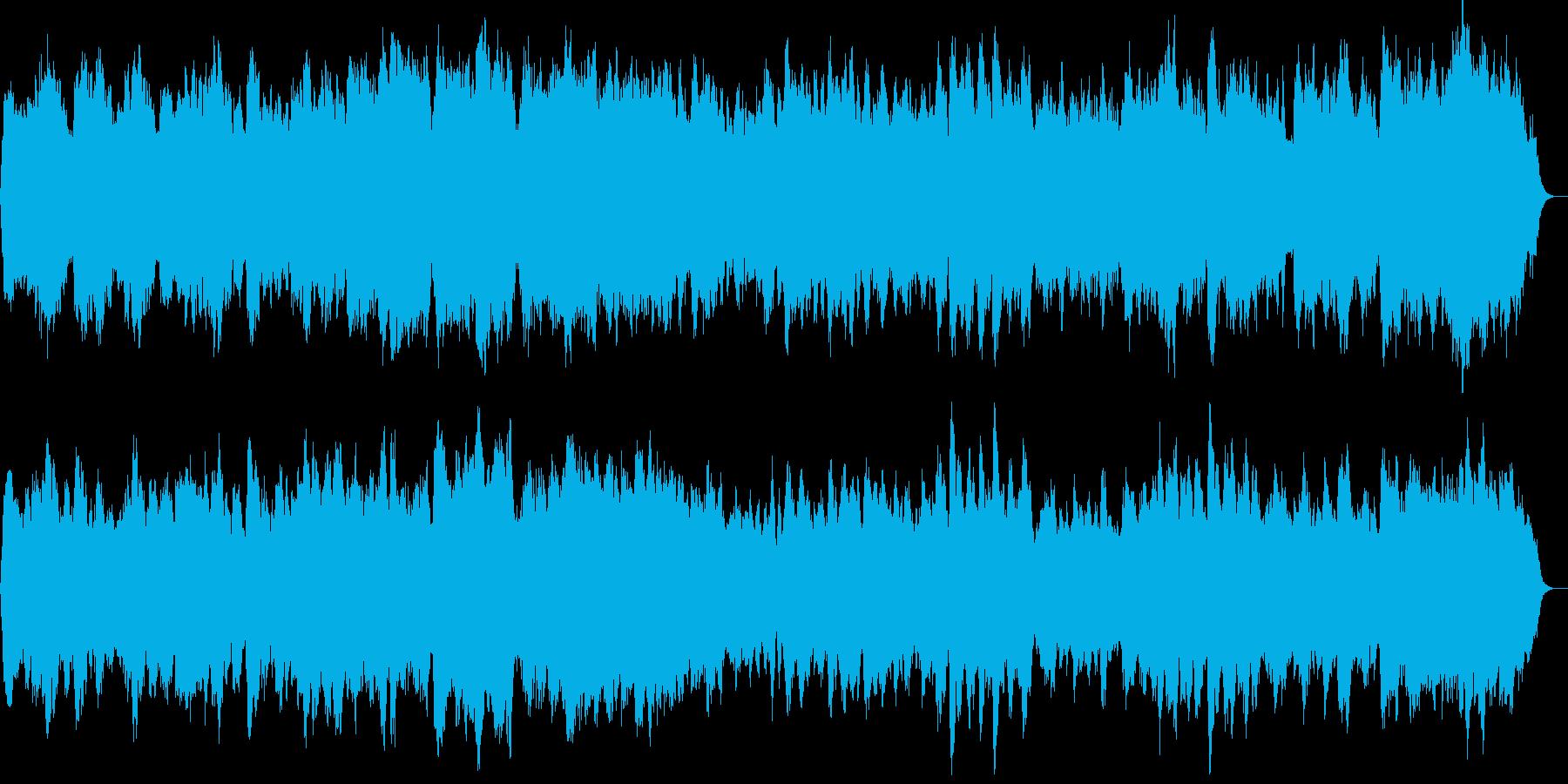バッハのようなパイプオルガンの四声の曲の再生済みの波形