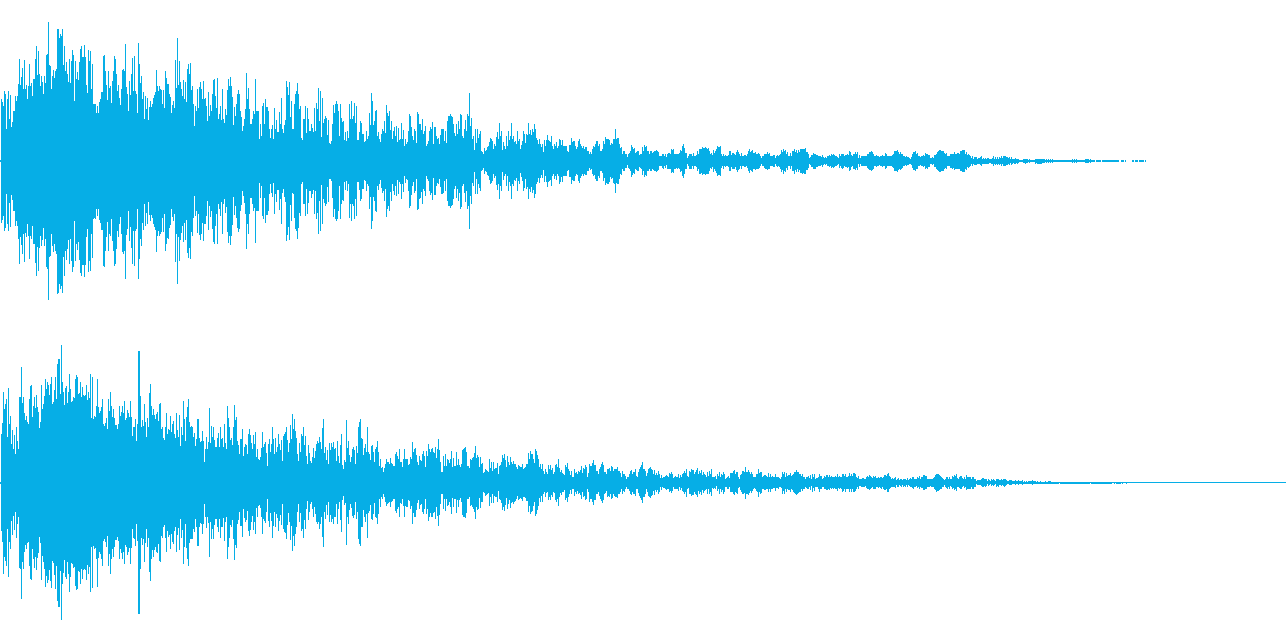 【ホラーゲーム】恐怖の演出シーンの再生済みの波形