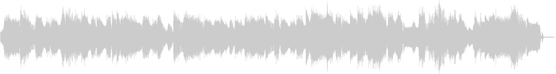 ビックバンドジャズ、スローバラードの未再生の波形