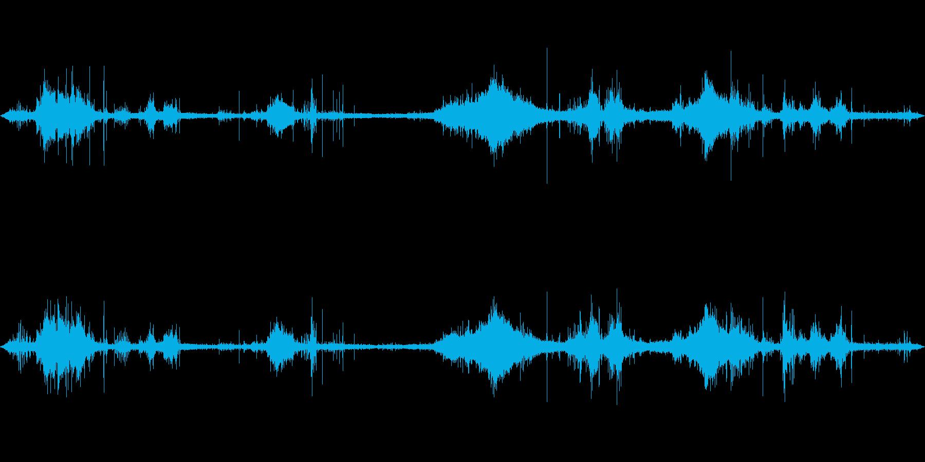 海面の音の再生済みの波形